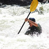 Paddling through Cucumber Rapid on Lower Yough