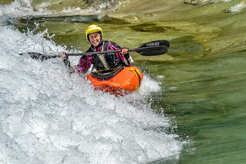 Anitra - always smiling while paddling :-)