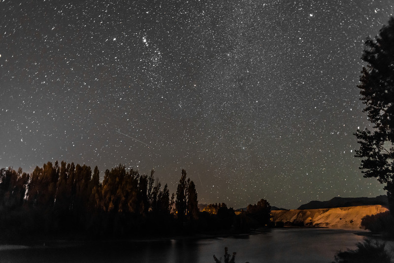 And a couple of night shots from our campsite on the Clutha River