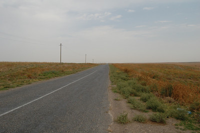 Kazakhstan is, as it turns out, just a giant featureless plain!