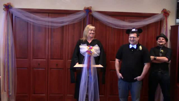 Video of Kelly officiating her first wedding ceremony.
