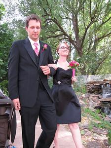 Groomsman Aaron with bridesmaid Natalee.