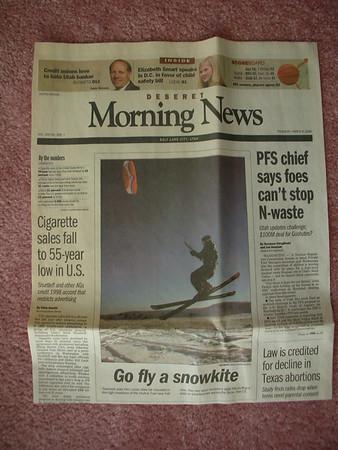 Desert News, Cover