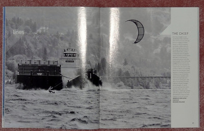 Kiteboarding Magazine, double spread full-page.
