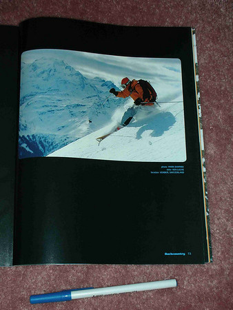 Backcountry Magazine,  full-page