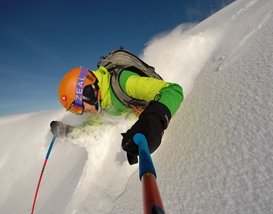 Steep and Deep selfie in Alaska