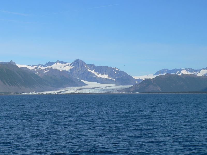Bear Glacier, a piedmont-type glacier, and part of the Harding Ice Field that stretches the entire southern length of the Kenai Peninsula from Homer to Seward