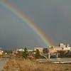 Spring rainbow over downtown Spokane.