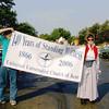 Joel Slater and Susan Goekler at start of parade