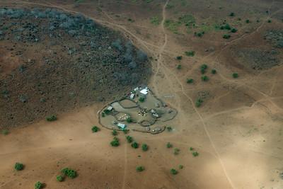 Typical Maasai cattle pen arrangement, Kenya.
