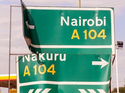 Road sign, Kenya.
