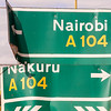 Road sign, Kenya.