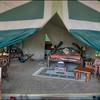 Tent at Governor's Il Moran camp, Maasai Mara, Kenya.