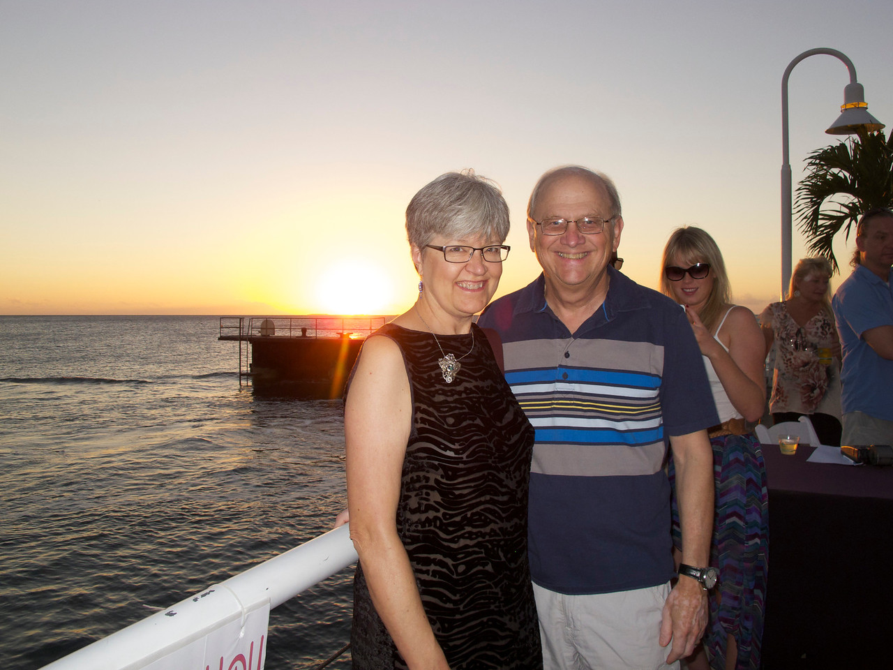 Louise and Phil at sunset.