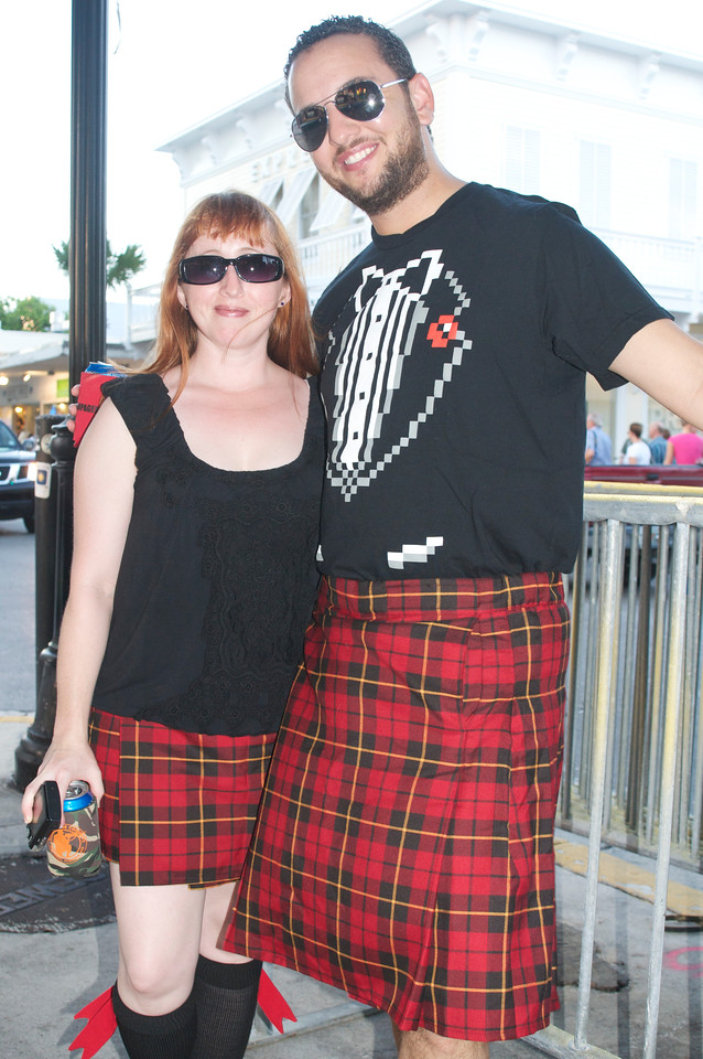 There's a plaid night during Fantasy Fest.