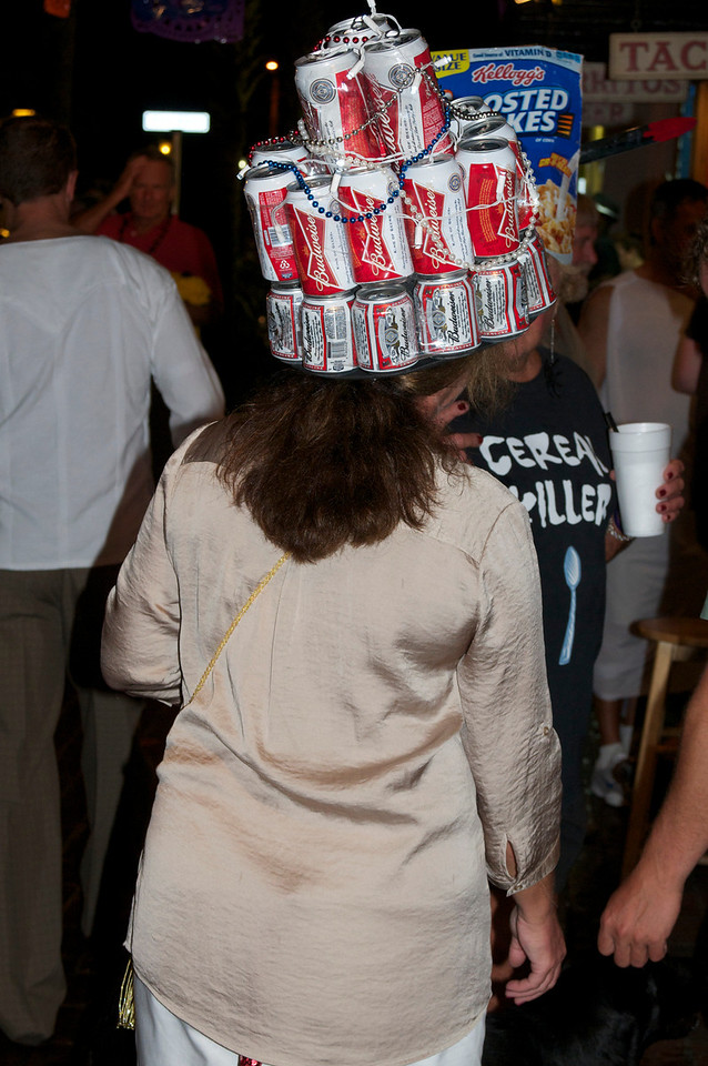 Beer hat.