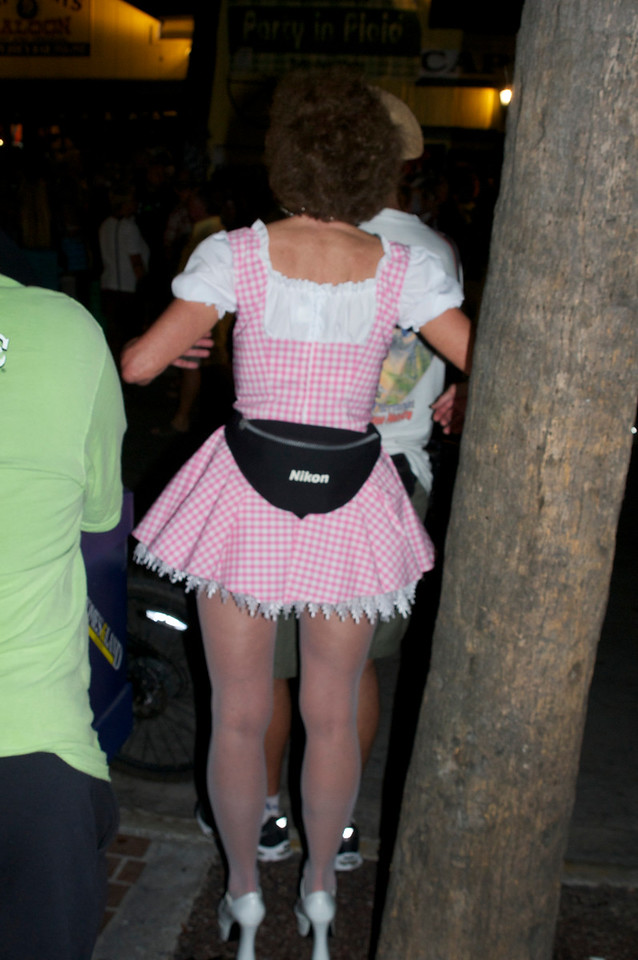 I didn't know Dorothy carried a Nikon in her fanny pack.