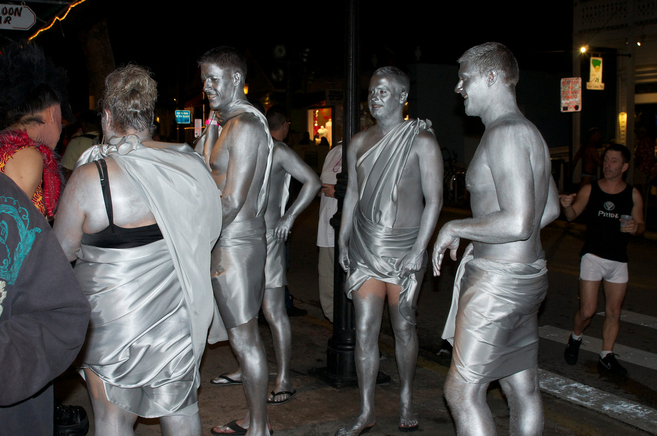 Not a part of the sculpture garden, these are just happy, shiny people made famous by song.