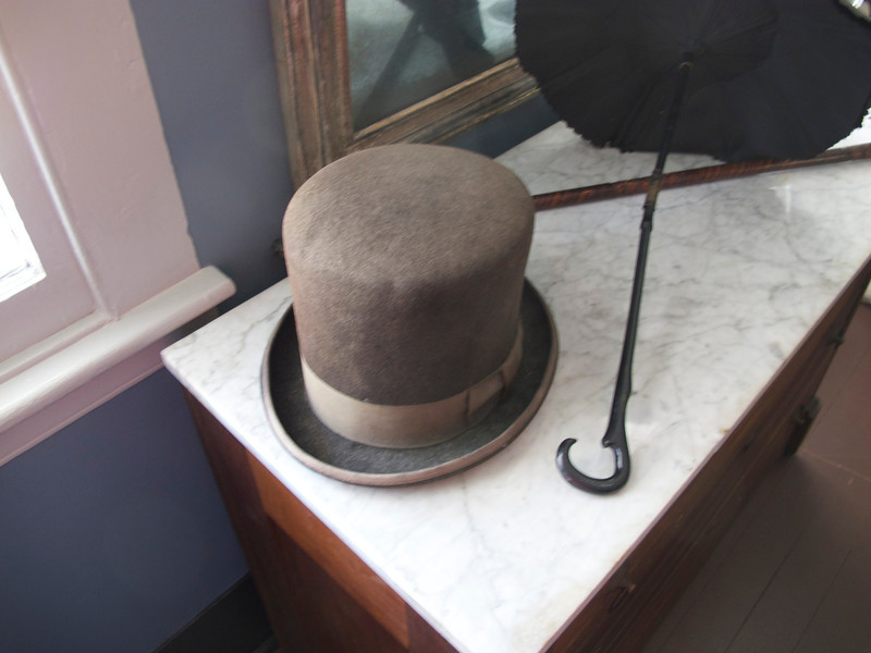 A top hat at the oldest house in Key West.