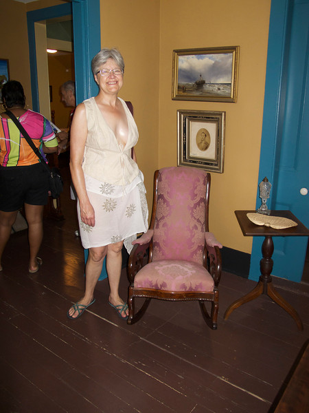 Although this looks like a child's chair, it was built to the adult size in 1829, when the house was built.