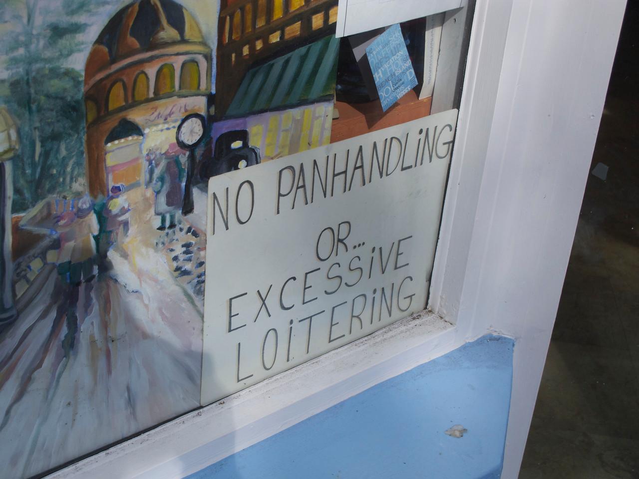 """""""Excessive"""" loitering? Hmm... ."""