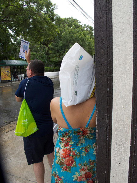 When it rains, put a bag over your head.