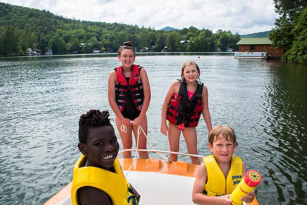 kids at Lake Rabun 060417