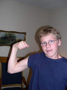 Muscles: but Kjirsten won the arm wrestling match