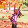 Two Girls Play Fall Foliage