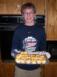 Stuffed mushrooms.  Yum yum.