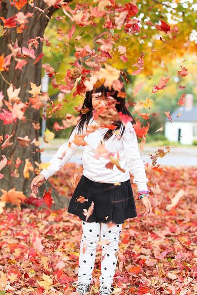 Girl and Foliage