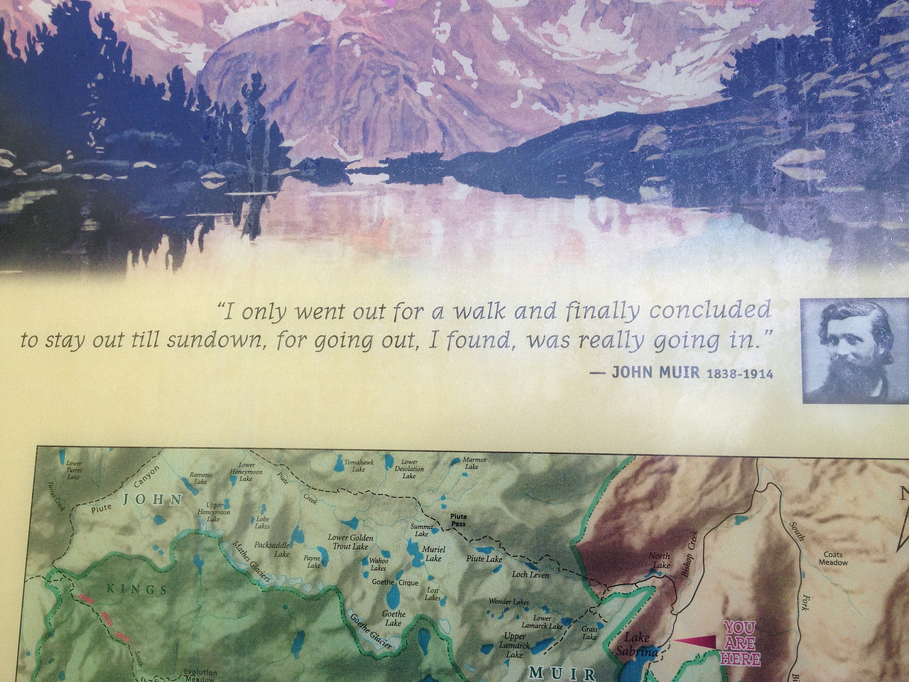 I found this is at the Lake Sabrina trailhead on my way to the Ionian Basin in the Eastern Sierra near Bishop, CA.  It sums up my current spiritual path and life nicely.