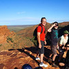 At the very top of the Kings Canyon - not for the fainthearted