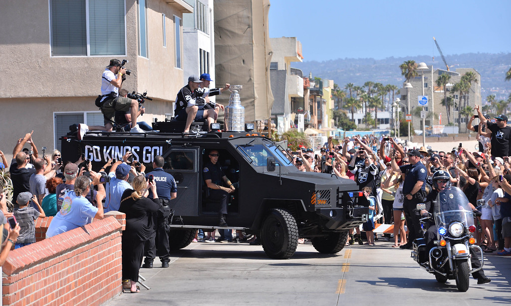 . Kings parade through the cities of Redondo Beach, Hermosa Beach, and Manhattan Beach. (June 18, 2014. Photo by Brad Graverson/The Daily Breeze)