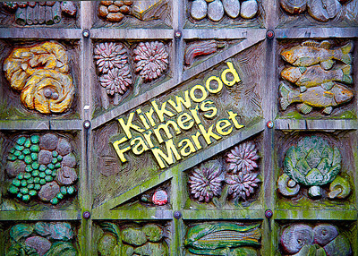 Kirkwood Farmers' Market Sign by Carlagraphs-
