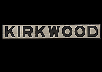 KIRKWOOD Train Station Sign by Carlagraphs-