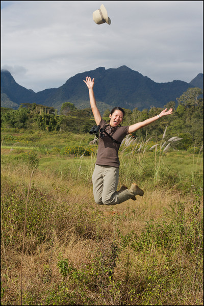 I could not resist having myself photographed while leaping in joy!