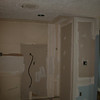 back of closet in kitchen with mud/tape