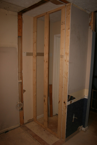 brace for the back of the hall closet wall (day 3)