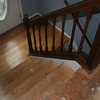 down the steps, no carpet... was there this am