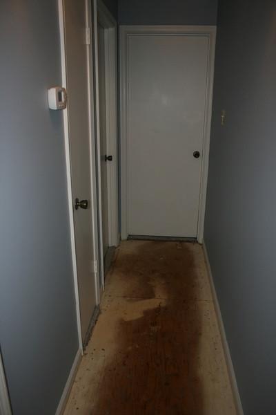 no carpet down the hall...
