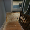 landing at front door is now gone... that was really put down well (remember it was hardwood as well)