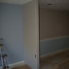 """new """"little"""" wall between dining room and living room the dry wall added"""