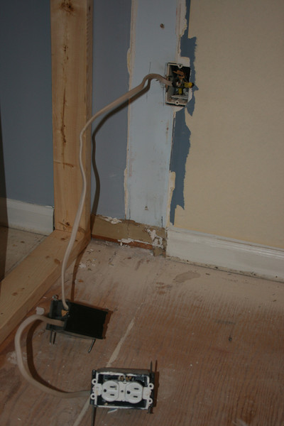 """nothing to do with day 3 but just had to take a picture of the new socket that was discovered when the original wall separating the dining room and living room was taken down... it is """"hot""""...<br /> Isn't that special!"""