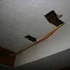 """so, this is the basement where the exhaust from cook top stove will be """"vented"""" out towards the driveway...!! <br /> It is truly amazing what contractors come up with..."""