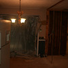 frig moved and plastic over entry to big room