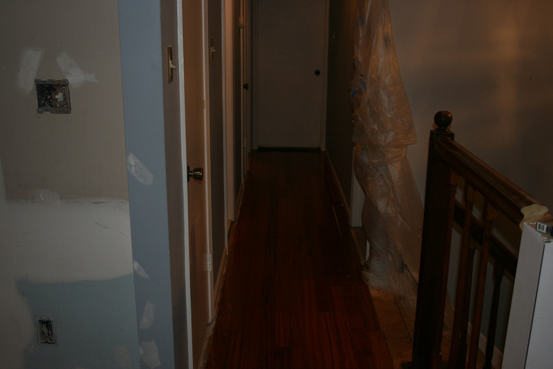 not a good picture, but down the hall with hardwood