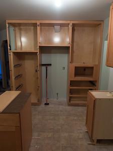 week 4: fridge wall cabinets