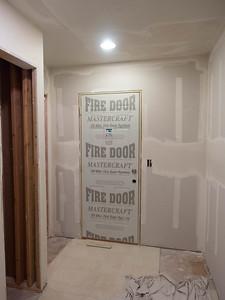 week 3: view of new mudroom door