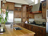 Black Walnut Kitchen with wide style shaker door
